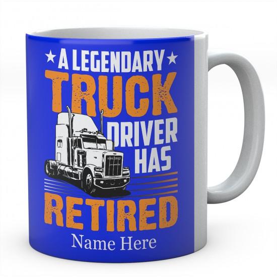 A Legendary Truck Driver Has Retired Ceramic Mug
