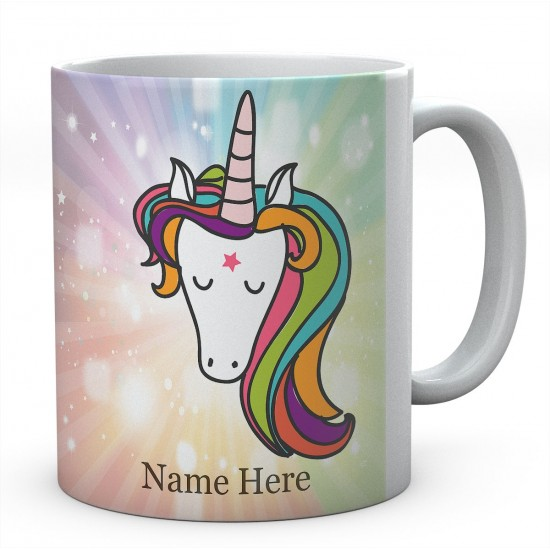 Personalised Printed Magical Unicorn with Background, Ceramic Mug