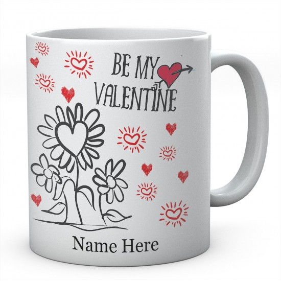 Be My Valentine Personalised Ceramic Mug