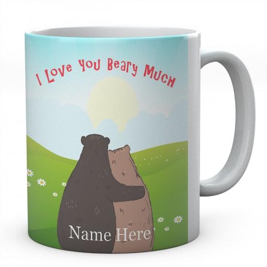 I Love You Beary Much Personalised Ceramic Mug