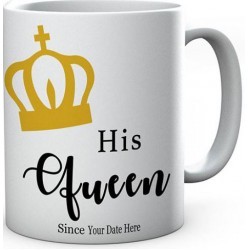 Personalised His Queen Since Mug