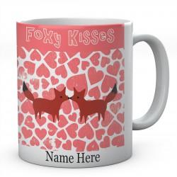 Foxy Kisses Personalised Ceramic Mug