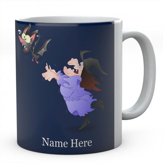 Personalised Witch And Bat Mug