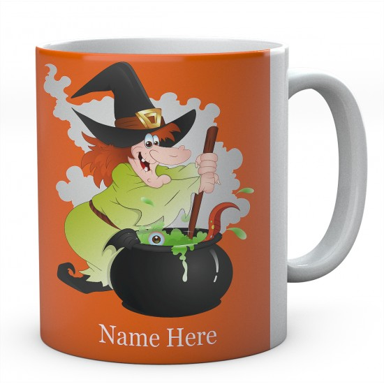 Witch And Cauldron Personalised Mug