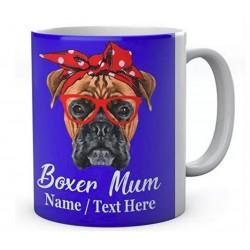 Funny Boxer Mum Mug Customised With Name Ceramic Mug