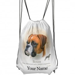 Personalised Boxer Drawstring Gym Bag