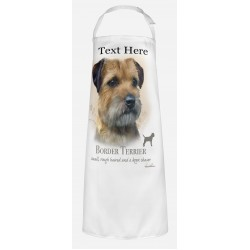 Personalised Border Terrier Dog Apron