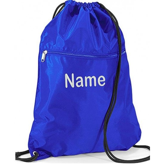 Personalised embroidered Premium Any Name Drawstring Gym Bags