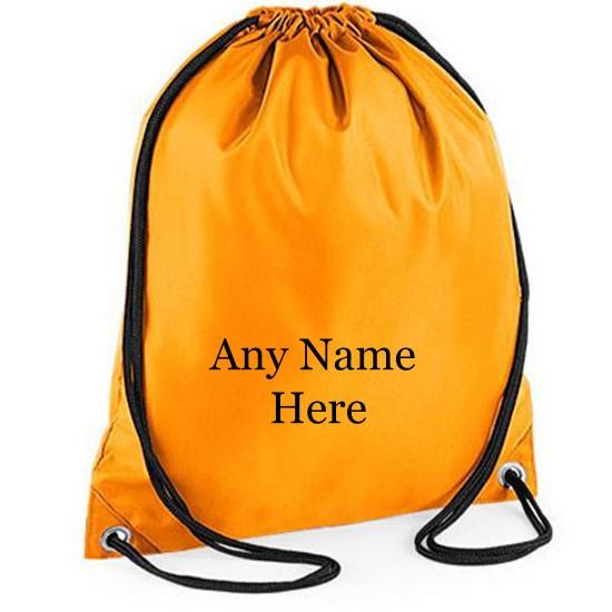 Printed Any Name Drawstring Gym Bag