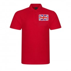 Embroidered Union Jack onto Unisex Polo Shirt
