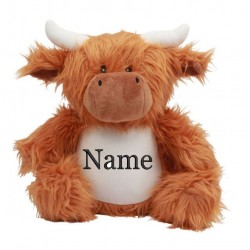 Mumbles HIGHLAND COW Soft Toy-Embroidered With Personalised Name