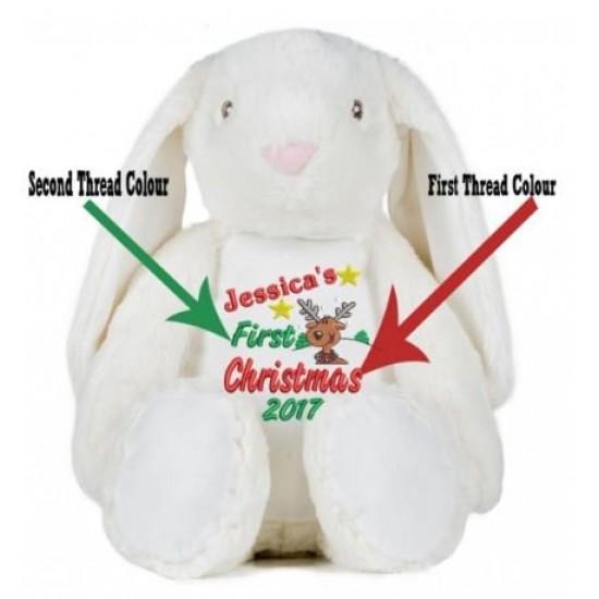 My 1st Christmas (ReinDeer) Rabbit Personalised Teddy Bear