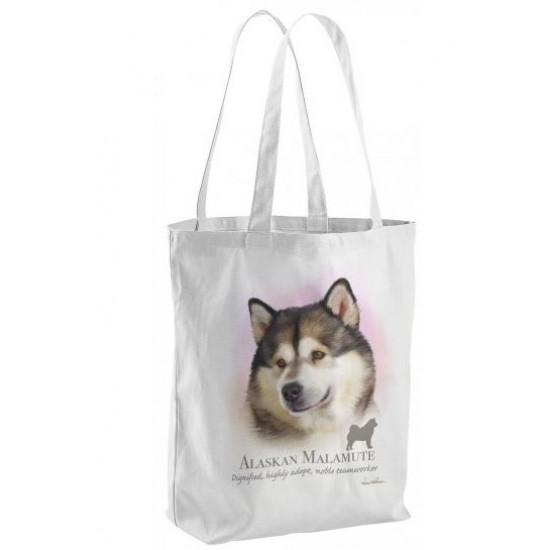 Alaskan Malamute Dog Tote Shopping Bag Series
