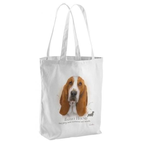 Basset Hound Dog Tote Shopping Bag
