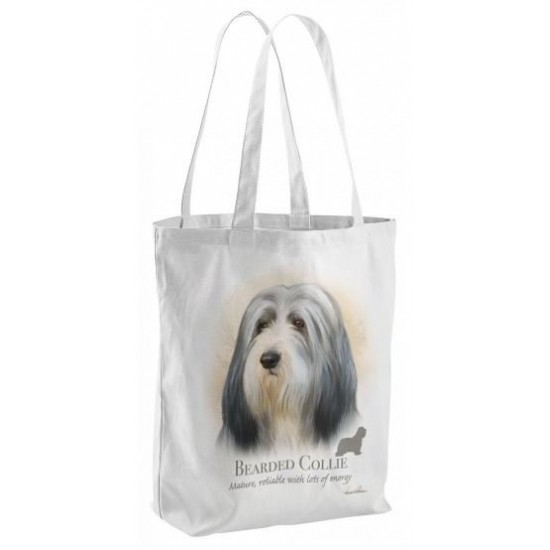 Bearded Collie Dog Tote Shopping Bag