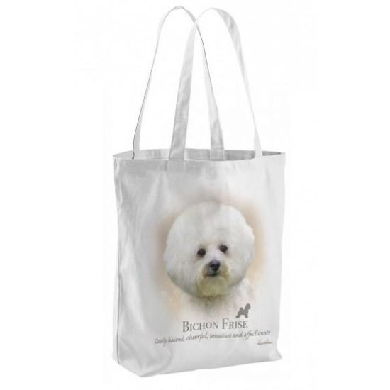 Bichon Frise Dog Tote Shopping Bag