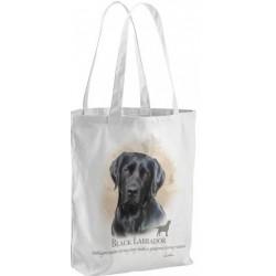 Black Labrador Dog Tote Shopping Bag