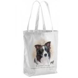 Border Collie Dog Tote Shopping Bag