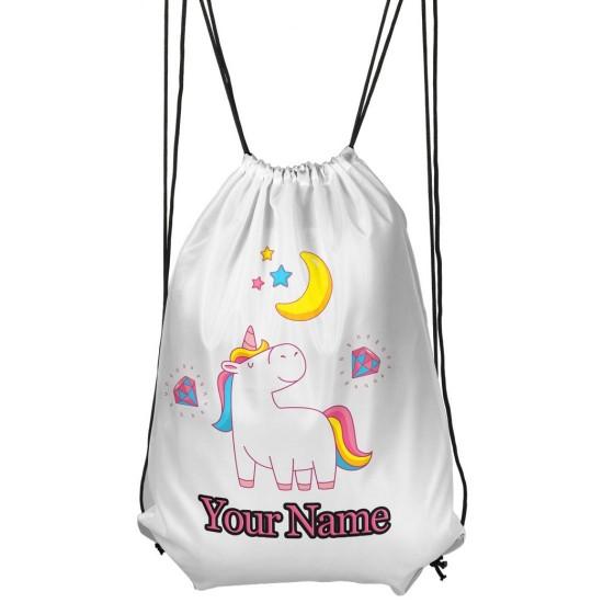 Personalised Moon And Star Unicorn Gym Bag