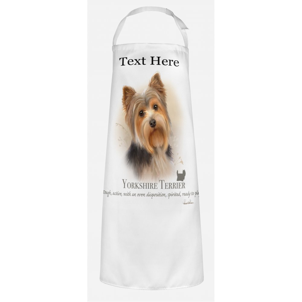 Workwear Aprons Personalised Yorkshire Terrier Dog Apron