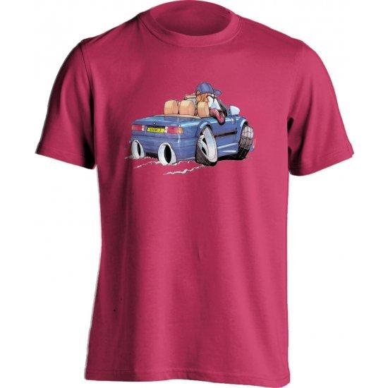 Koolart BMW 325I Blue- 1514-Child's Kartoons Motor Vehicle T Shirt