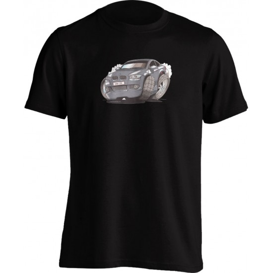 Koolart BMW 335I Silver -2174- Adults Unisex Kartoon Motor Vehicle T Shirt