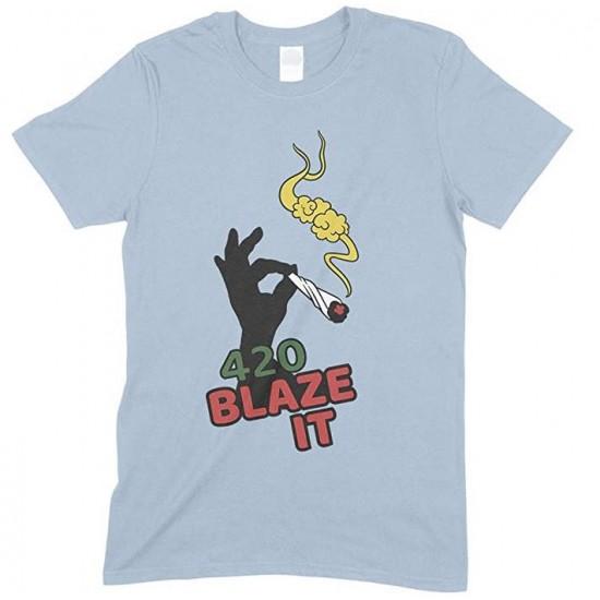 420 Blaze IT Weed- Men's Funny T Shirt