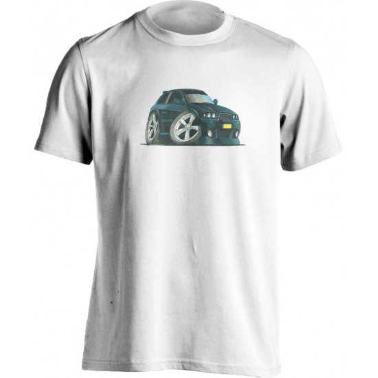 Adults Koolart Audi A3-1757 Black T Shirt