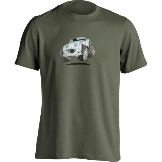Adults Koolart Austin Healey Frog-Eye Sprite White 0771 T Shirt