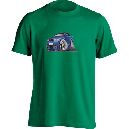 Koolart BMW 1 Coupe Blue-3152-Child's Motor Vehicle Kartoon T Shirt