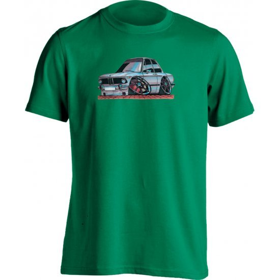 koolart BMW 2002 COUPE White -0078- Adults Unisex Motor Vehicle T Shirt