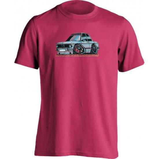 Koolart BMW 2002 COUPE White-0078-Child's Motor Vehicle T Shirt