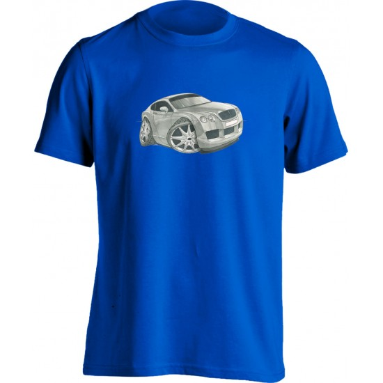 Koolart Bentley Continental Silver-1735-Unisex T Shirt