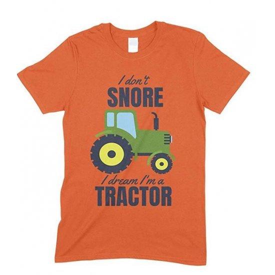 I Don't Snore I Dream I'm A Green Tractor Funny Men's Novelty T Shirt