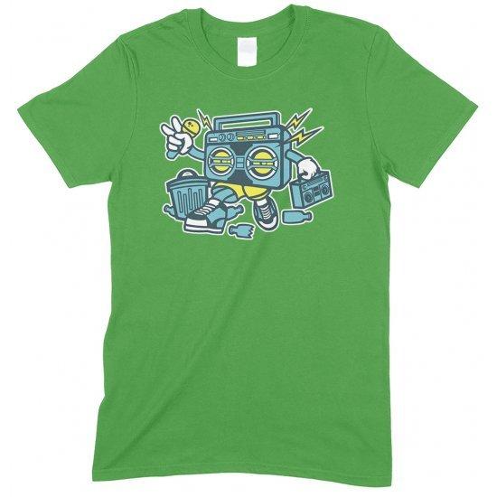 Boombox Cartoon Funny Children's T Shirt Boy-Girl