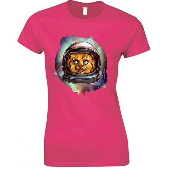 Cosmic Space Zebra,Novelty Funny Ladies T-Shirt