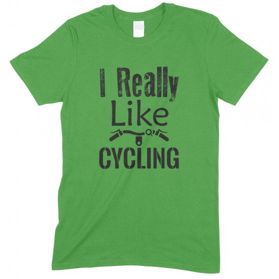 I Really Like Cycling-Children's T Shirt Boy-Girl