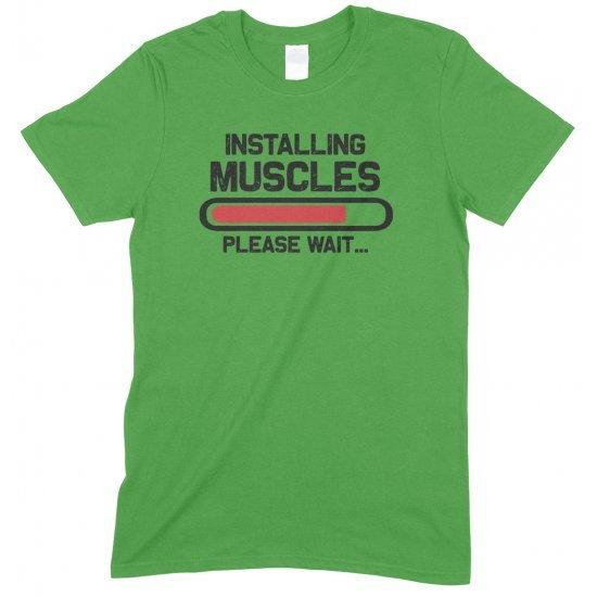 Installing Muscles Please Wait -Gym Unisex T Shirt