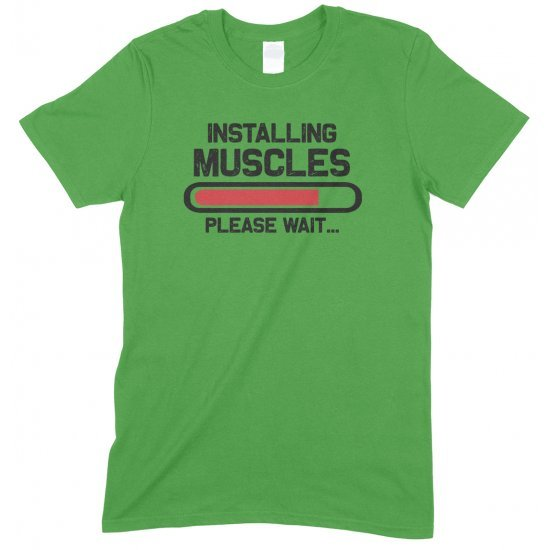 Installing Muscles Please Wait -Child's Gym T Shirt Boy/Girl