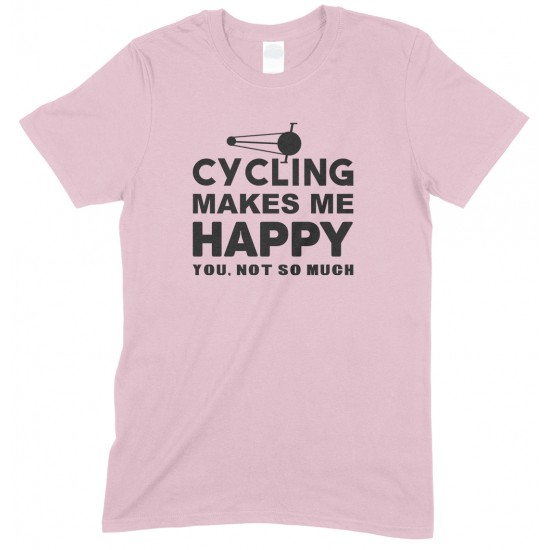 Cycling Makes Me Happy- You, Not So Much - Kids T Shirt Boy/Girl
