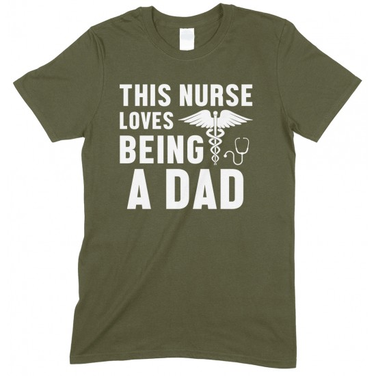 This Nurse Loves Being A Dad - Men's T Shirt