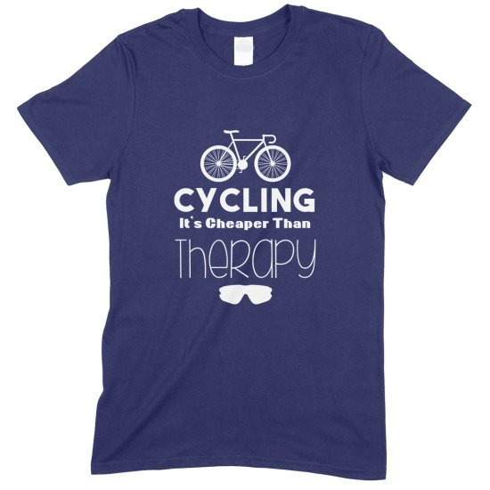 Cycling It's Cheaper Than Therapy -Child's T Shirt Boy/Girl