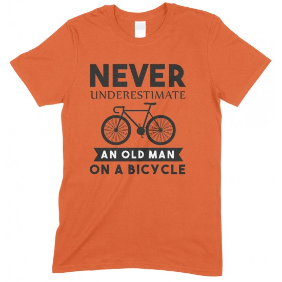 Never Underestimate an Old Man On A Bicycle-Men's Cycling T Shirt