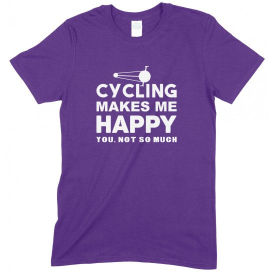 Cycling Makes Me Happy-You, Not So Much-Adults Unisex T Shirt