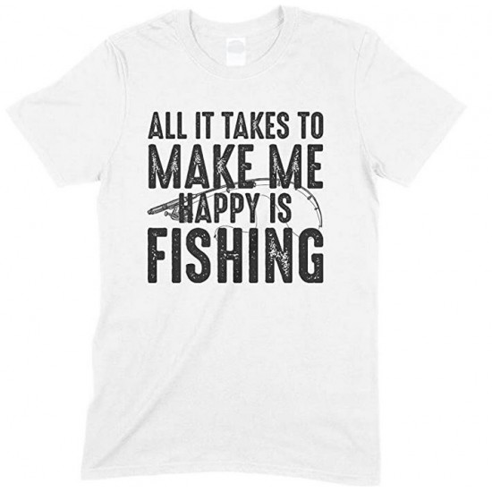 All It Takes to Make Me Happy is Fishing -Child's T Shirt Boy/Girl