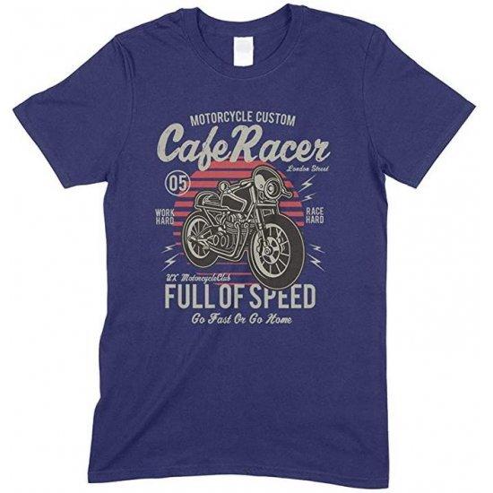 Motorcycle Custom Cafe Racer Full of Speed Go Fast Or Go Home -Child's T Shirt Boy-Girl
