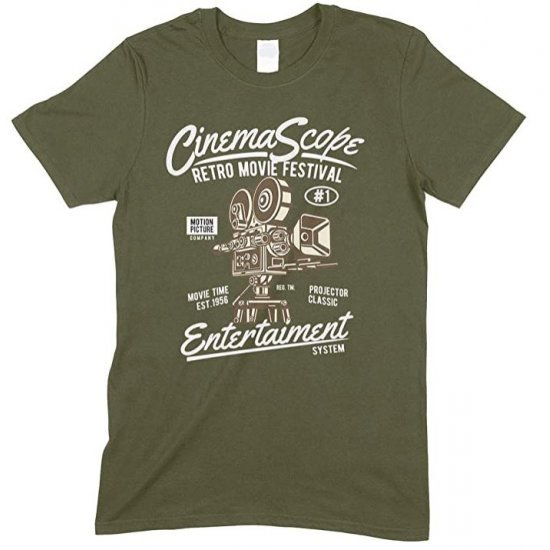 Cinema Scope Retro Movie Festival Entertainment System Adults T Shirt
