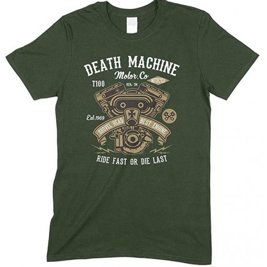 Death Machine Ride Fast Or Die Last-Men's Unisex Fun T Shirt