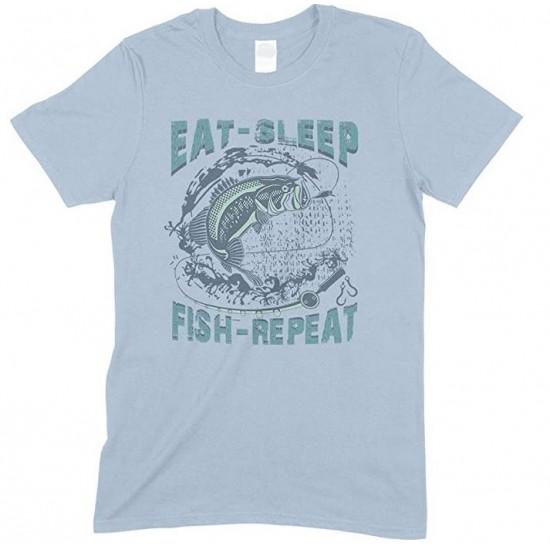 Eat Sleep Fish Repeat -Kids T Shirt Boy-Girl