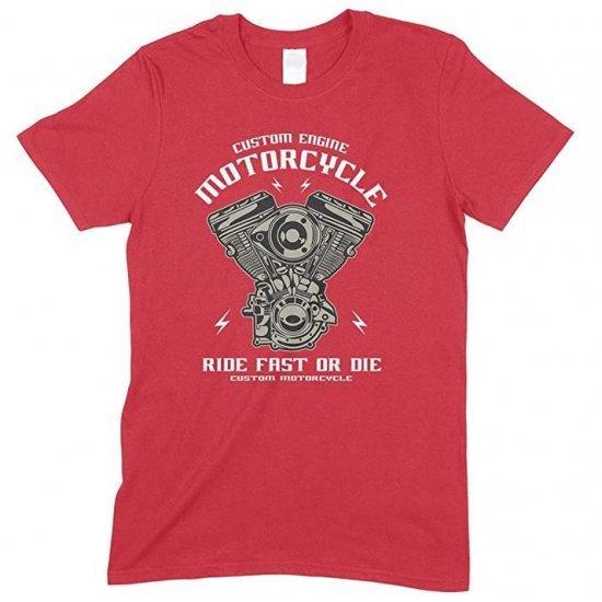Custom Engine Motorcycle Ride Fast Or Die Kid's Unisex Fun T Shirt Boy-Girl